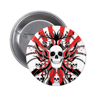 japanese  skulls buttons