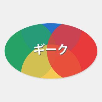 Japanese Snes Geek Oval Sticker