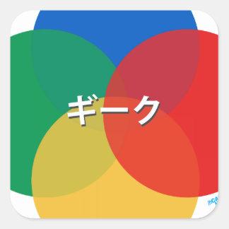 Japanese Snes Geek Square Sticker