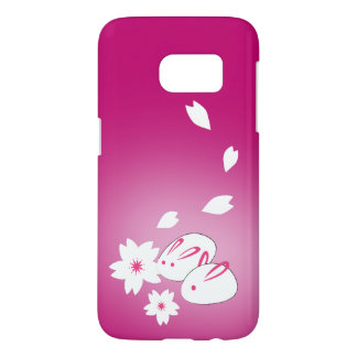 Japanese Snow Rabbits and Sakura  Samsung S7 Case
