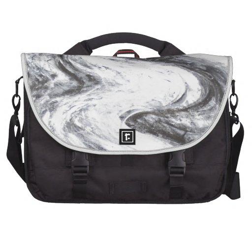 Japanese Snow Spirit(black and white surrealism) Laptop Commuter Bag