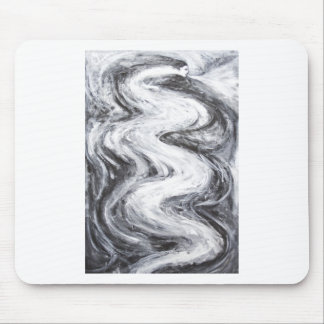 Japanese Snow Spirit(black and white surrealism) Mouse Pad