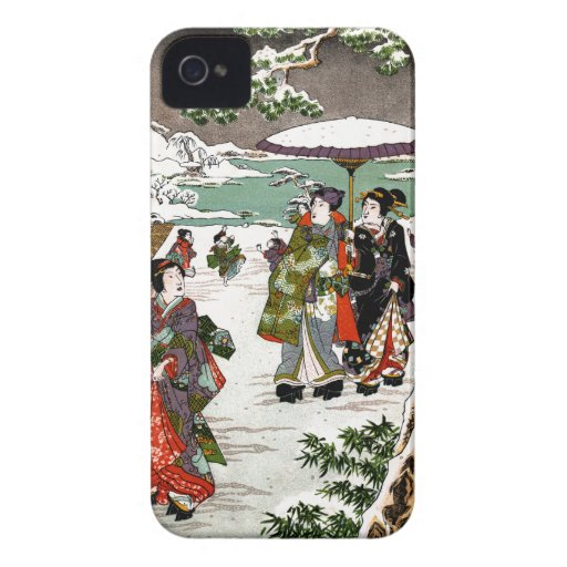 Japanese Snowscape Case-Mate iPhone 4 Case