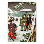 Japanese Snowscape Greeting Card