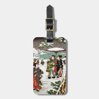 Japanese Snowscape Travel Bag Tags