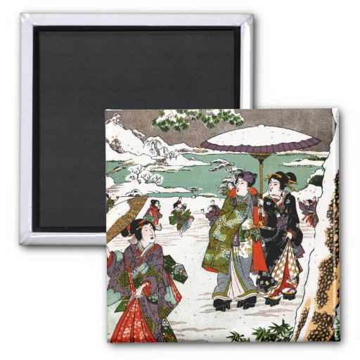 Japanese Snowscape Magnets