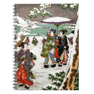 Japanese Snowscape Spiral Note Book