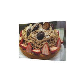 Japanese Spaghetti & Strawberry Cake Canvas Print