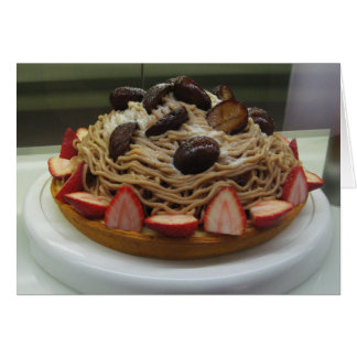 Japanese Spaghetti & Strawberry Cake Card