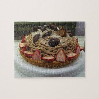 Japanese Spaghetti & Strawberry Cake Jigsaw Puzzle