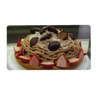 Japanese Spaghetti & Strawberry Cake Shipping Labels