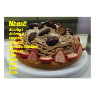 Japanese Spaghetti & Strawberry Cake Large Business Card