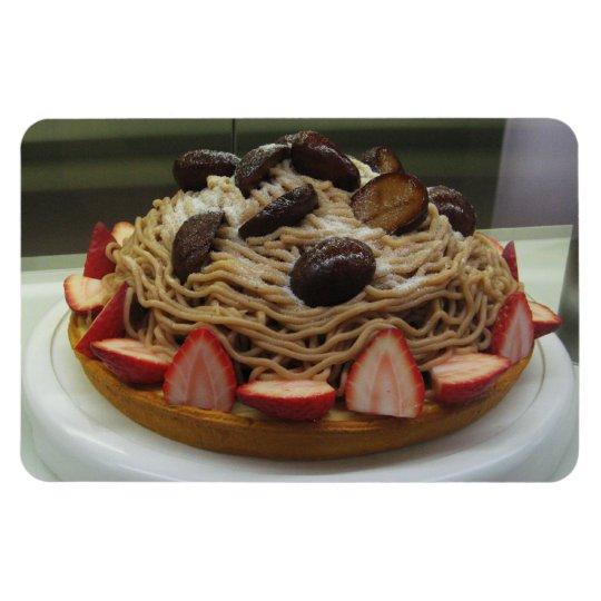 Japanese Spaghetti & Strawberry Cake Magnet