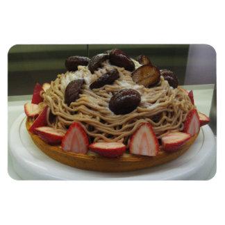Japanese Spaghetti & Strawberry Cake Rectangular Photo Magnet