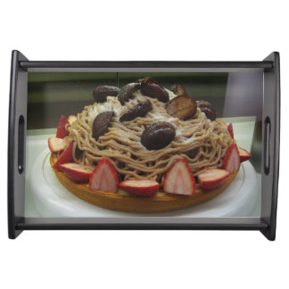 Japanese Spaghetti & Strawberry Cake Serving Tray