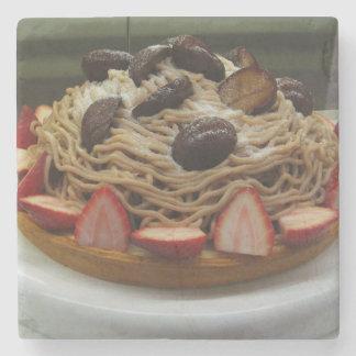 Japanese Spaghetti & Strawberry Cake Stone Coaster