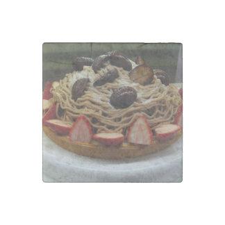 Japanese Spaghetti & Strawberry Cake Stone Magnet