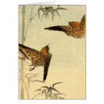 Japanese Sparrows no.1 Stationery Note Card