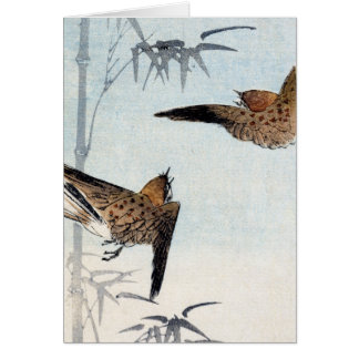 Japanese Sparrows no.2 Card