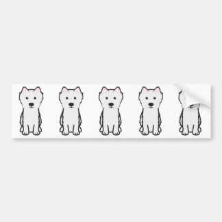 Japanese Spitz Dog Cartoon Bumper Stickers