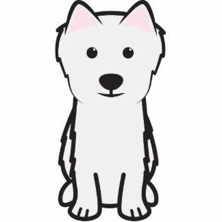Japanese Spitz Dog Cartoon Cut Out