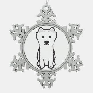 Japanese Spitz Dog Cartoon Ornament