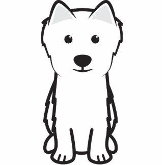 Japanese Spitz Dog Cartoon Photo Cut Out