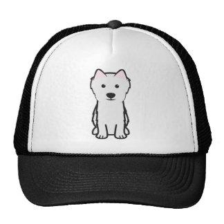 Japanese Spitz Dog Cartoon Trucker Hat