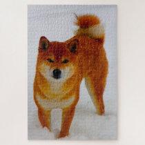 Japanese Spitz Dog. Jigsaw Puzzle
