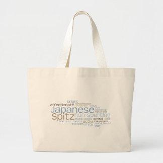 Japanese Spitz Large Tote Bag