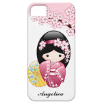 Japanese Spring Kokeshi Doll iPhone 5 Cases