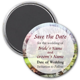 Japanese Spring Save the Date Magnet