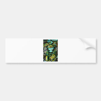 JAPANESE STAINED GLASS BUMPER STICKER
