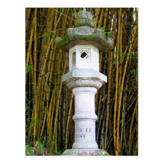 Japanese Stone Lantern in Hilo, Hawaii Postcard
