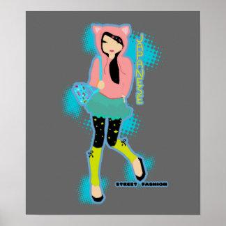 Japanese Street Fashion Poster