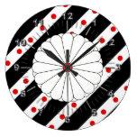Japanese stripes flag large clock