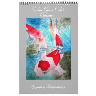 Japanese style Art calendar  by Sacha Grossel