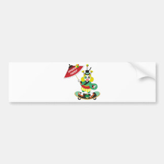 Japanese-style clown colorful (JAPANESE STYLE Bumper Sticker
