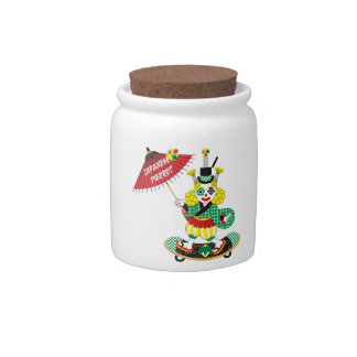 Japanese-style clown colorful (JAPANESE STYLE Candy Jar