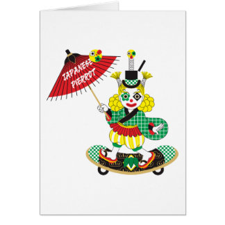 Japanese-style clown colorful (JAPANESE STYLE Card