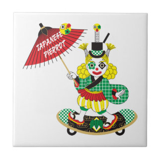 Japanese-style clown colorful (JAPANESE STYLE Ceramic Tile