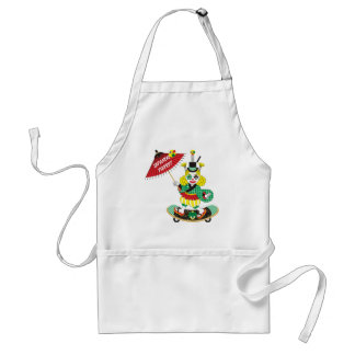 Japanese-style clown colorful JAPANESE STYLE PIER Aprons