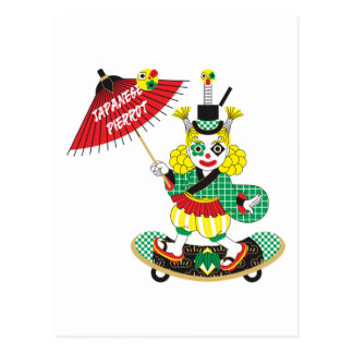 Japanese-style clown colorful (JAPANESE STYLE Postcard
