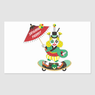 Japanese-style clown colorful (JAPANESE STYLE Rectangular Sticker