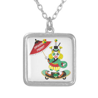 Japanese-style clown colorful (JAPANESE STYLE Silver Plated Necklace