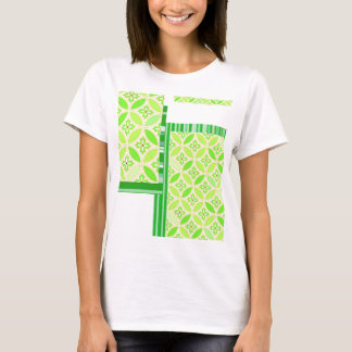 """Japanese-style Shippo band Green """"Be Happy!"""" T T-Shirt"""