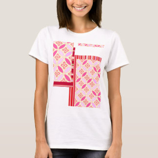 """Japanese-style Shippo band Pink """"Be Happy!"""" T T-Shirt"""