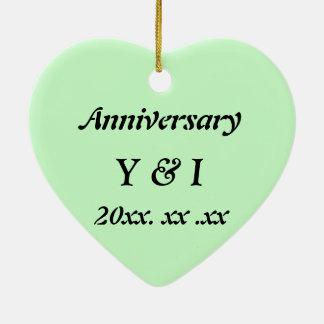 Japanese-style Shippo Green Anniversary ornament