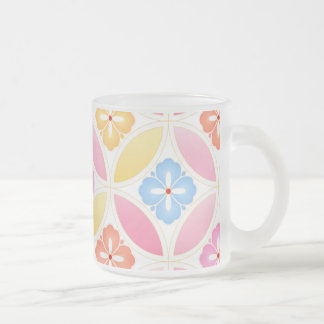 Japanese-style Shippo pastel colorful Frosted Glass Coffee Mug