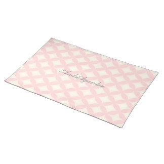 Japanese-style Shippo pastel pink Cloth Placemat